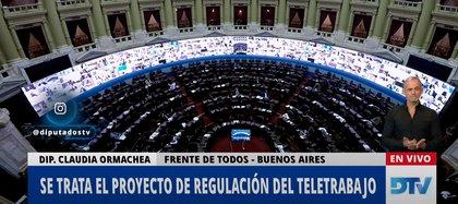 La Cámara de Diputados debatió el proyecto para regular el teletrabajo