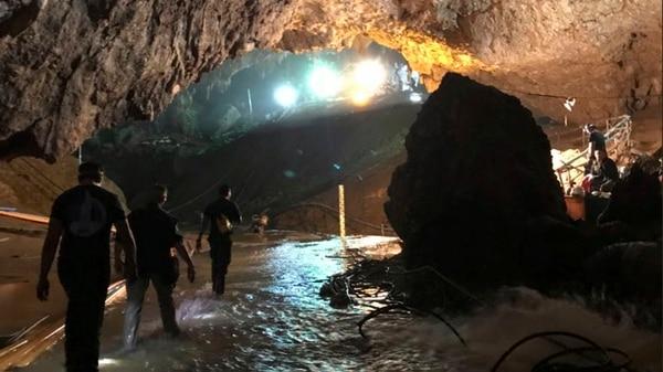 Las instalaciones dentro de la cueva (AP)