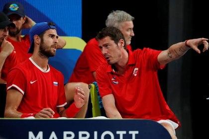 Safin fue el capitán del equipo ruso en la Copa ATP- REUTERS/Ciro De Luca