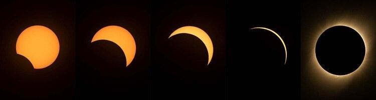 La secuencia del eclipse (AFP)