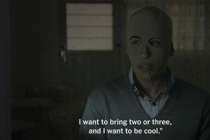 """""""Si tu traes un muerto, yo quiero traer cuatro o cinco muertos. Yo quiero ser el 'chido'"""" (Foto: Captura de pantalla/The New York Times)"""