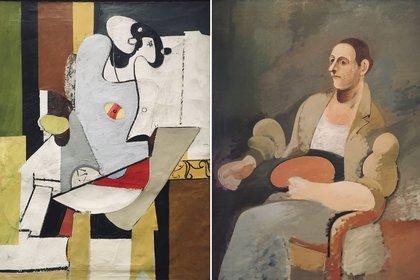 """""""Figuración y la Silla"""" y """"Retrato de Mr B"""""""