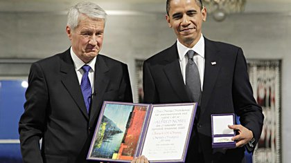 Obama recibió el Nobel en 2009, su primer año de mandato