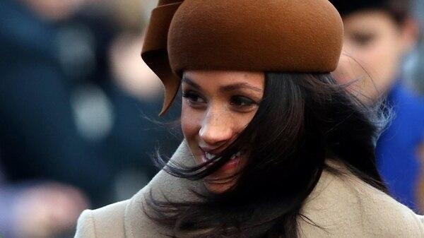 Meghan Markle celebró su primera Navidad con la familia real británica (REUTERS)