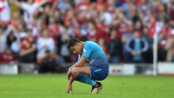 Su última temporada en el Arsenal estuvo marcada por su deseo de irse (Getty)