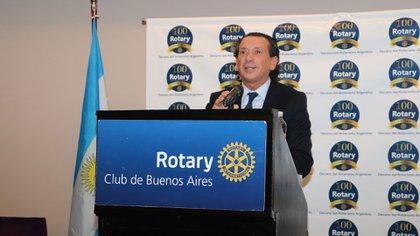 El ministro de Producción, Dante Sica, expuso en el almuerzo del Rotary Club