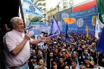 La UOM, liderada por Antonio Caló, fue el primero en firmar las suspensiones tras el acuerdo UIA-CGT