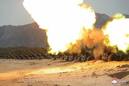 La artillería norcoreana es la principal preocupación de Corea del Sur (KCNA vía REUTERS)