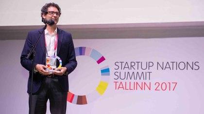 Mariano Mayer, Secretario de Emprendedores y Pymes de la Nación recibe un premio en Estonia