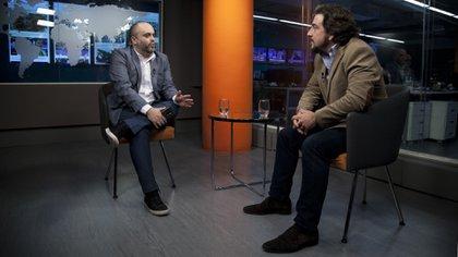 El CEO de Openbank en el estudio de Infobae (Crédito: Santiago Saferstein)