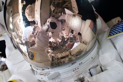Una de las imágenes que tomó el astronauta durante sus paseos espaciales(Scott Kelly/NASA)