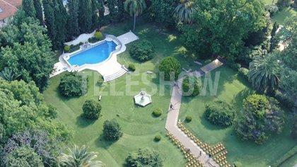 Así se ve el jardín en el que Pampita y Roberto García Moritán celebraron su boda ante sus familiares y amigos íntimos