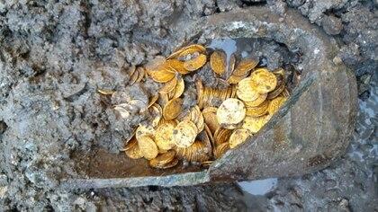 Las monedas pertenecían al Imperio romano