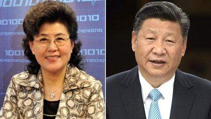 Cai Xia, la profesora de la Escuela Central del Partido Comunista y el presidente Xi Jinping (Infobae)
