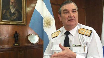 Almirante Marcelo Srur, el imputado de mayor jerarquía quien por ahora no ha sido requerido por la justicia federal
