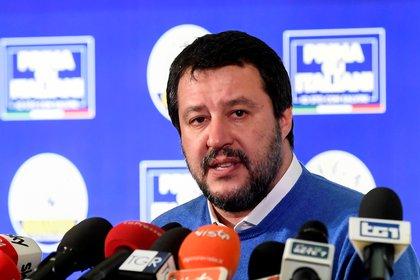 Matteo Salvini durante una conferencia de prensa tras las elecciones de  Emilia-Romagna  (REUTERS/Flavio Lo Scalzo)