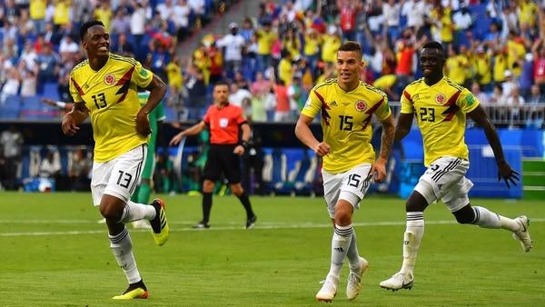 Colombia finalizó en la primera colocación de su zona y jugará el último cotejo de octavos (AFP)