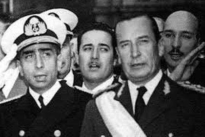 El almirante Rojas y el general Aramburu