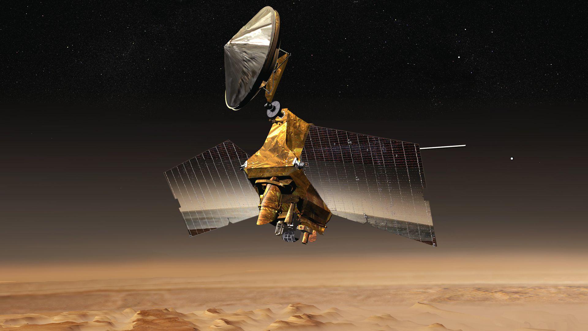 LA MRO, de la NASA, orbita hoy Marte y brinda fotografías de alta calidad (NASA)