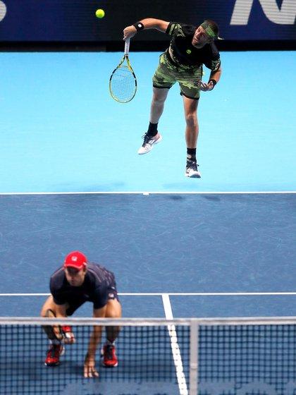 Una imagen de la actualidad: Horacio Zeballos con el español Granollers, su compañero en este último tiempo (Foto: AP)