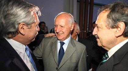 Alberto Fernández y Roberto Lavagna, este jueves juntos en un acto oficial (Presidencia)