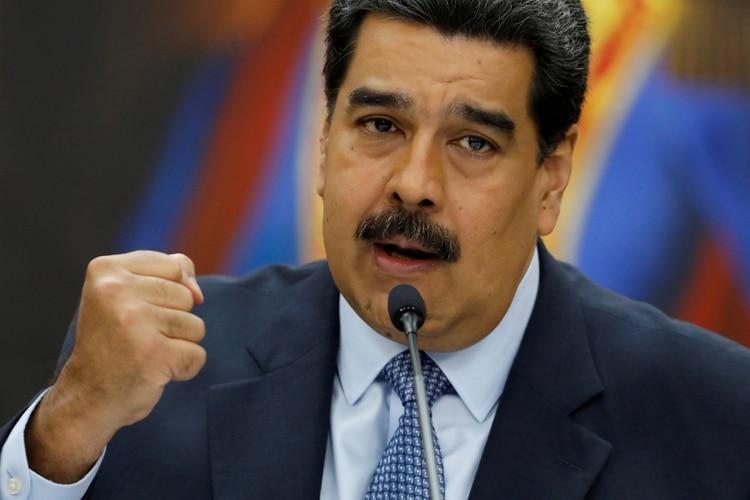 Maduro durante una conferencia de prensa en el Palacio de MIraflores en Caracas (REUTERS/Manaure Quintero)
