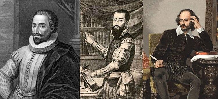Miguel de Cervantes, Inca Garcilaso de la Vega y William Shakespeare,