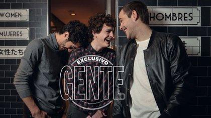 Chino Darin, Lorenzo Toto Ferro y Peter Lanzani compañeros y protagonistas de 'El Ángel'(Foto: Fabián Uset/GENTE)