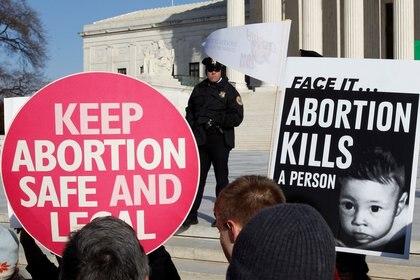 Manifestación en favor del aborto en los Estados Unidos. REUTERS/Jim Young/File Photo