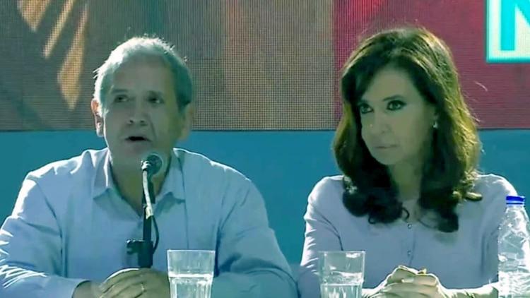 Sergio Palazzo y Cristina Kirchner