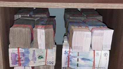 La Policía colombiana incautó cerca de medio millón de dólares durante el operativo en Medellín