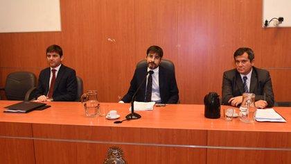Basso, Machado Pelloni y Ríos, integrantes del Tribunal Oral Federal 3 (Maximiliano Luna)