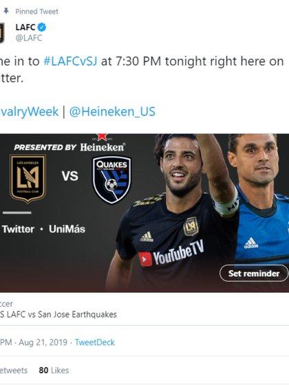 Esta noche se enfrentarán (Foto: Captura de pantalla de Twitter)