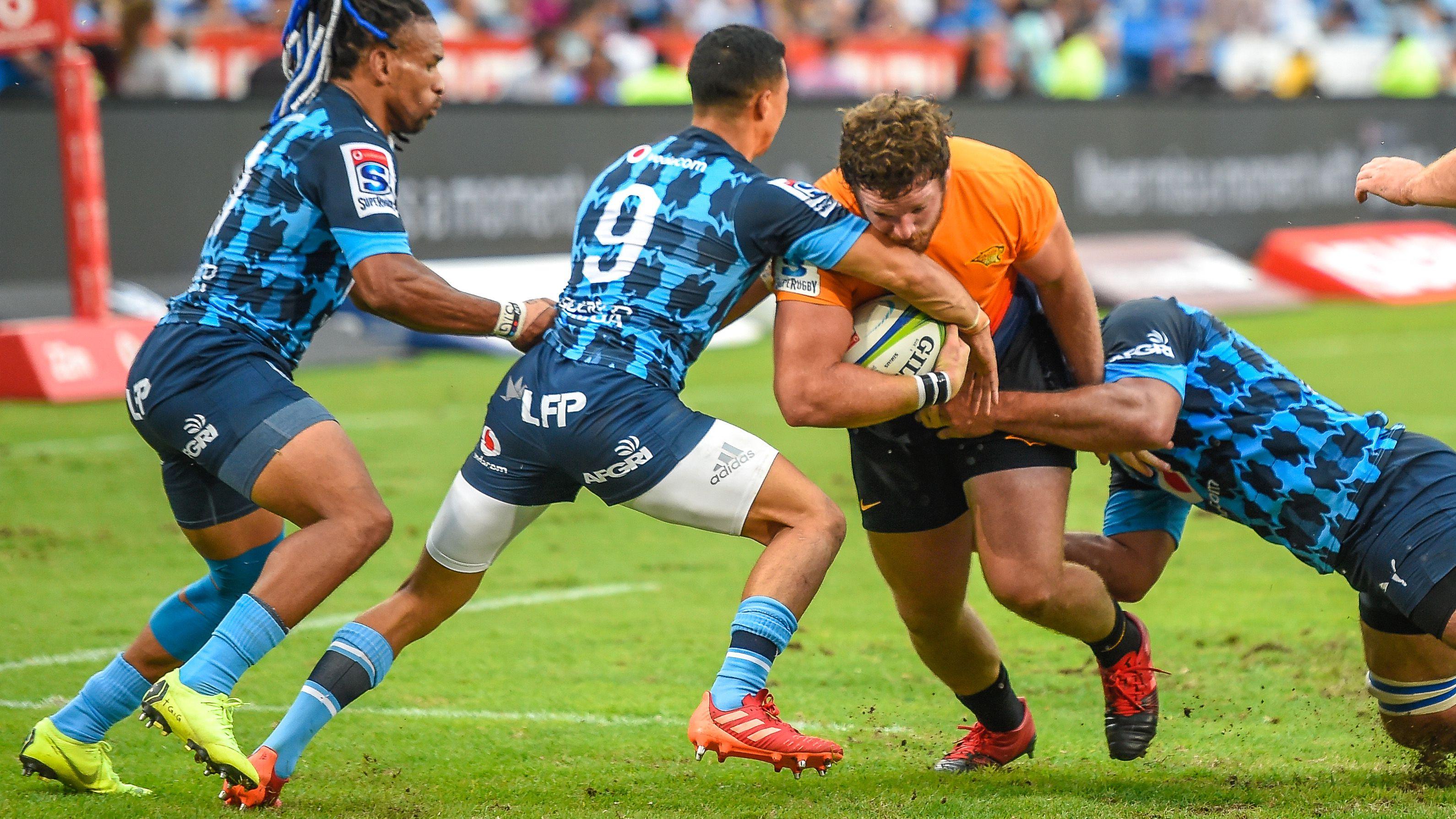 Jaguares intentará despedirse de su gira por Sudáfrica con una victoria (Photo by Christiaan Kotze / AFP)