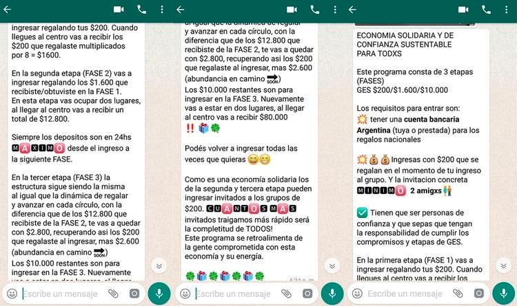 """Otra versión del esquema: el """"Telar pesificado"""" que se expande en Rosario."""
