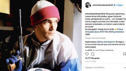 Antonio Banderas compartió esta foto a horas de la masacre ocurrida en una escuela en Florida (Instagram)