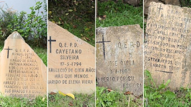 Las inscripciones están sacadas de los libros y el archivo histórico de la Iglesia