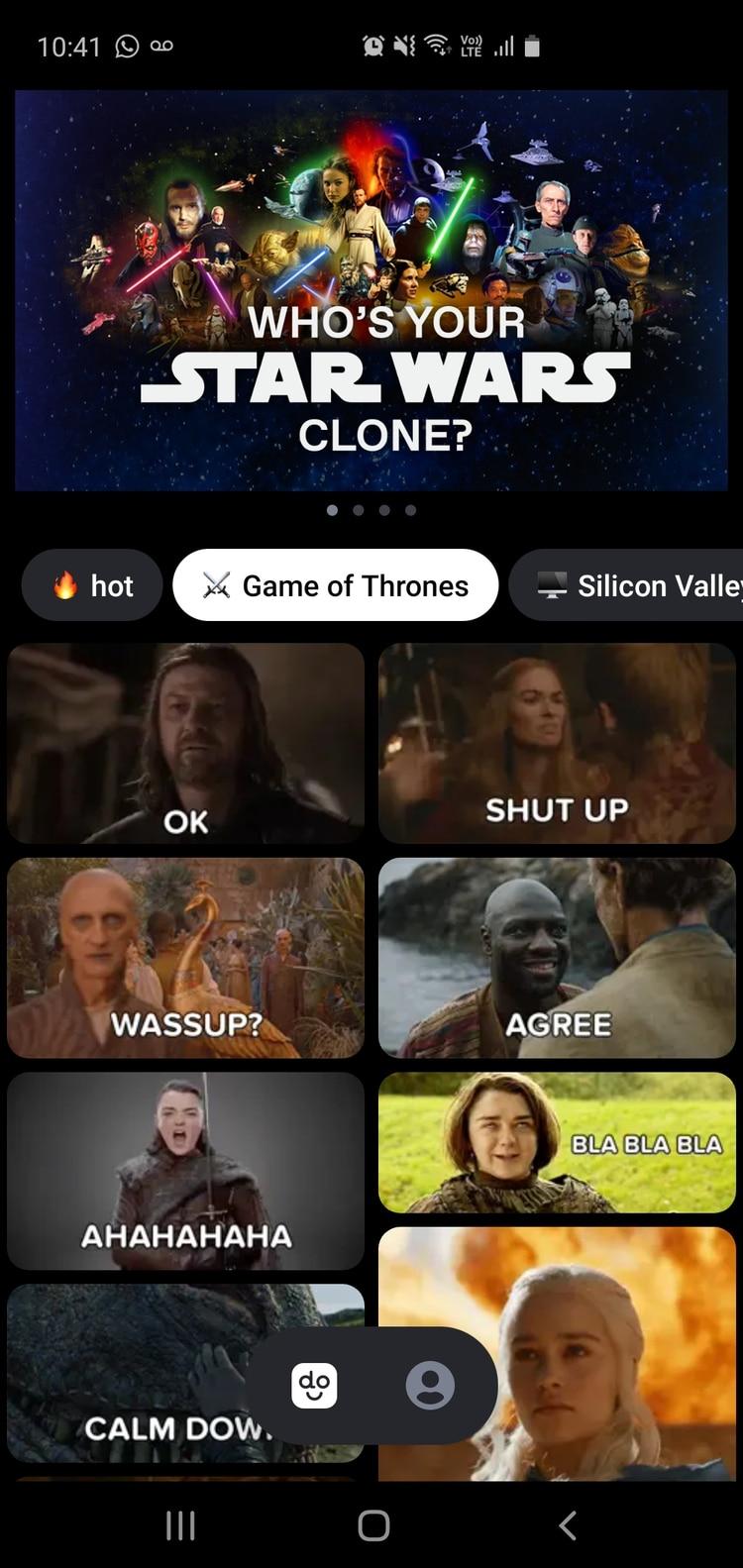 Se puede elegir entre varias temáticas para crear el meme.