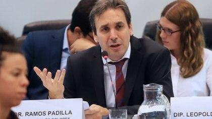 El juez Ramos Padilla durante su exposición en el Congreso (Foto: NA/Daniel Vides)