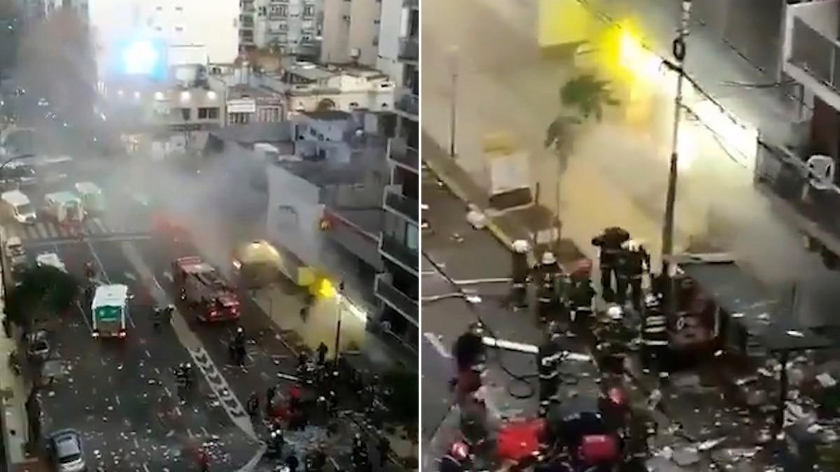 Incendio y explosión en una perfumería de Villa Crespo: dos bomberos murieron y otros seis están heridos - Infobae
