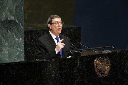22/09/2020 El ministro de Asuntos Exteriores de Cuba, Bruno Rodríguez, durante una intervención en Naciones Unidas.