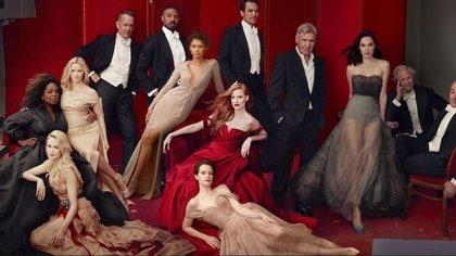La portada de Vanity Fair tal como quedó, con las 12 estrellas y sin James Franco