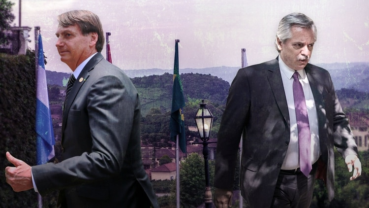 Los presidentes de Brasil y la Argentina, Jair Bolsonaro y Alberto Fernández.