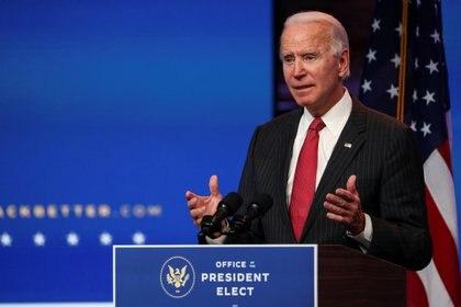 Joe Biden, presidente electo de EEUU (REUTERS/Tom Brenner)