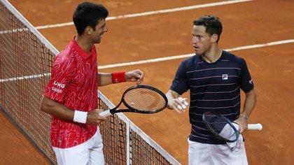Diego Schwartzman cayó en la final del Masters 1000 de Roma ante Novak Djokovic por 7-5 y 6-3 (Foto: Reuters)