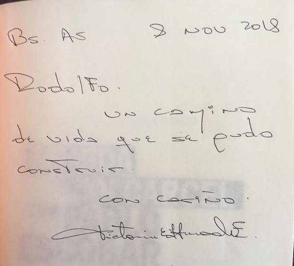 La dedicatoria de la viuda de Escobar al cronista de Infobae con un nombre que no usaba desde hacía más de dos décadas