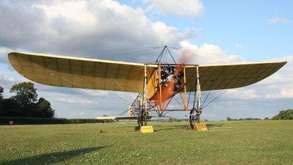 Un Blériot XI operativo, parte de la colección Shuttleworth en Bedfordshire, Gran Bretaña, en 2009 (Jonathan Hordle/Shutterstock)