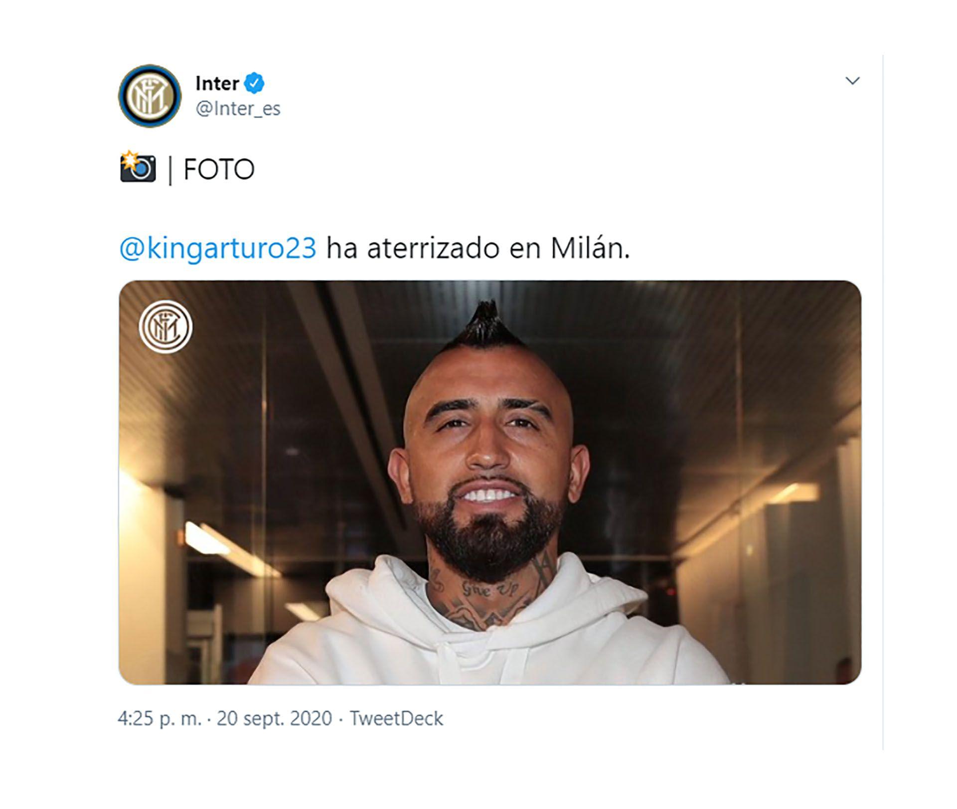 Inter de Milan Arturo Vidal