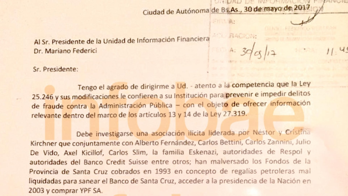 Exclusivo: el documento sobre los Kirchner que Ducler le presentó al ...