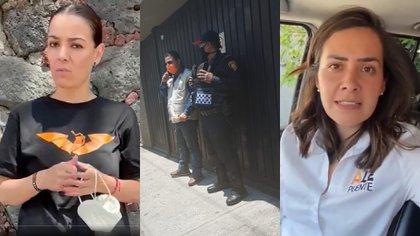 Autoridades contradijeron versión del presunto asalto a candidatas de MC (Foto: Twitter @Jorgina_Gaxiola @alepuente100)